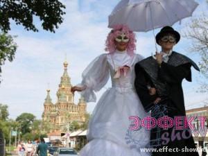 Ходулист на свадьбу