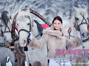 Зимний свадебный транспорт